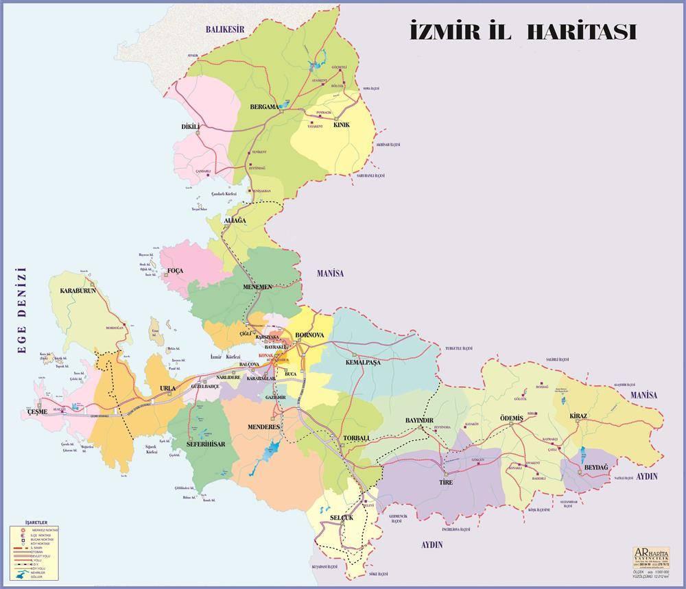 İzmir Haritası. İzmir Sohbet