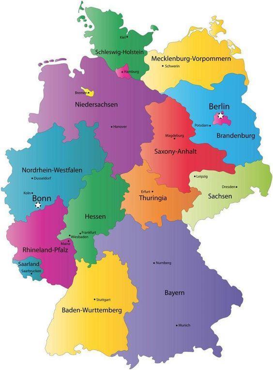 Almanya Haritası. Almanya Sohbet Odası.
