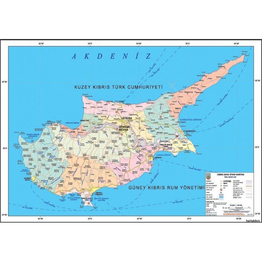 Kıbrıs Haritası. Kıbrıs Sohbet
