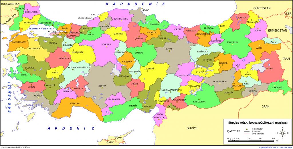 Türkiye Cumhuriyeti Siyasi Haritası