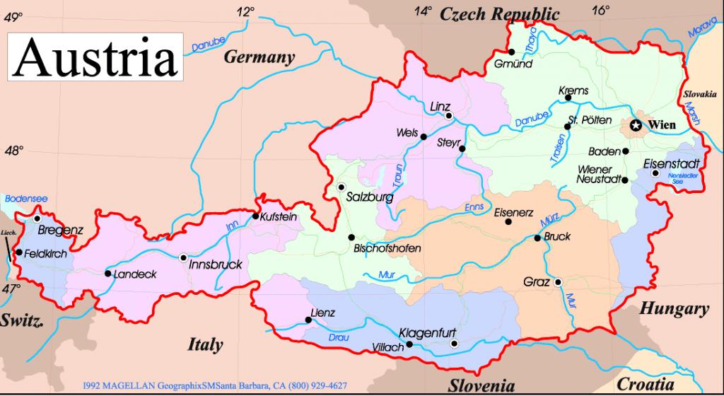 Avusturya Haritası. Avusturya Sohbet