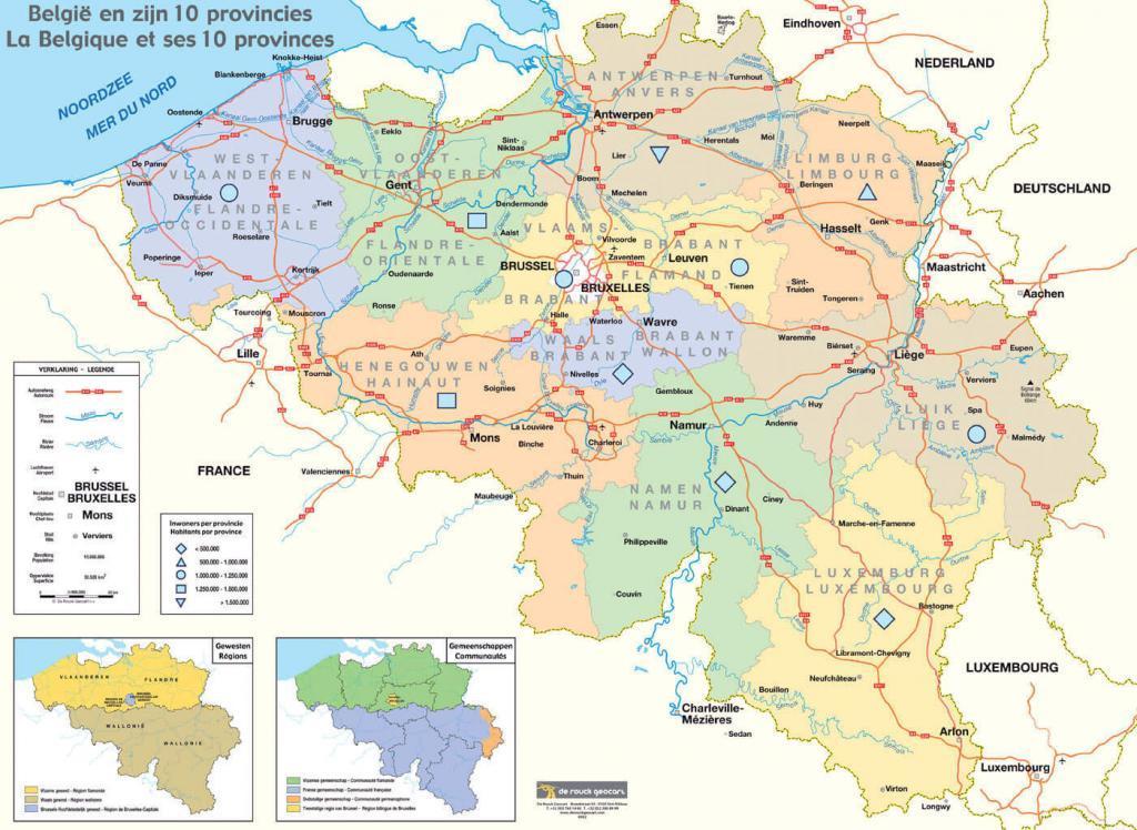 Belçika Haritası. Belçika Sohbet