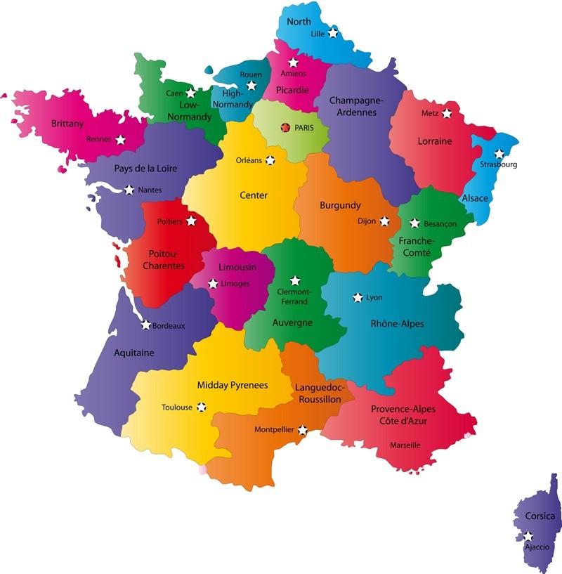 Fransa Haritası. Fransa Sohbet