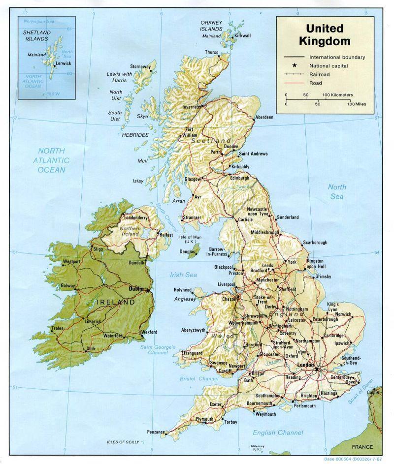 İngiltere Haritası. İngiltere Sohbet